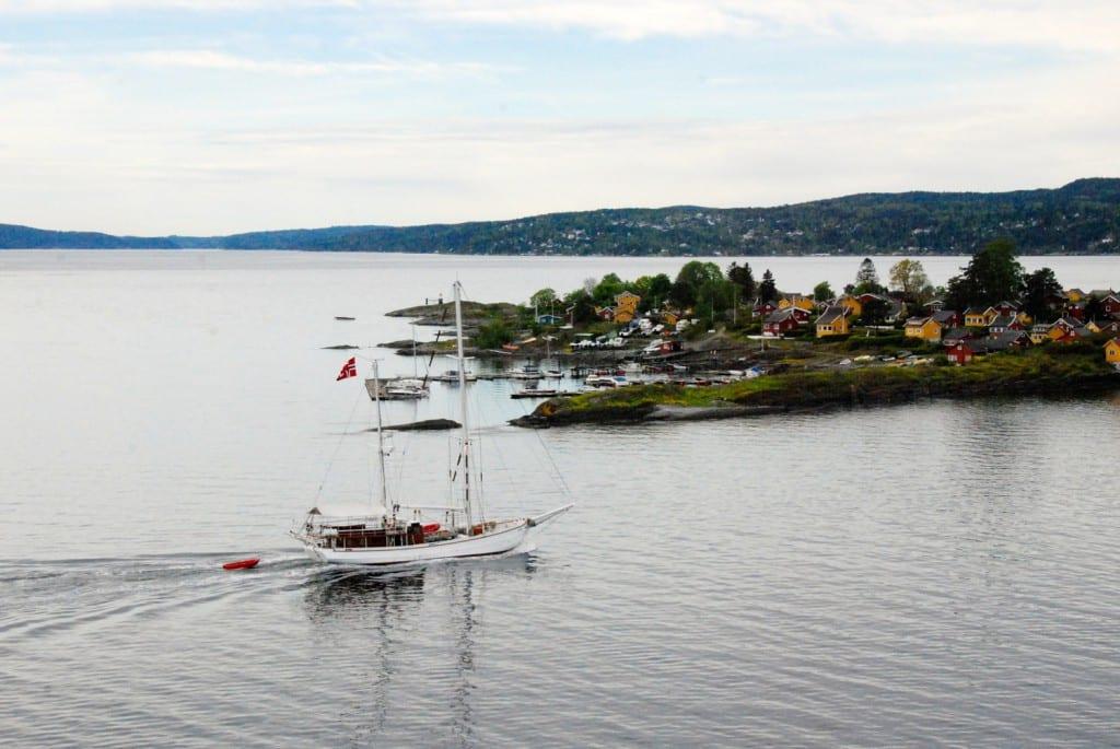 Oslofjord Blick aus Kabine mini kreuzfahrt nach oslo
