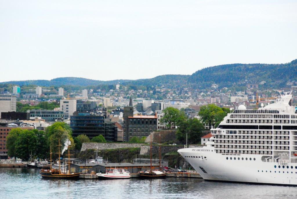 Oslofjord Aussicht mini Kreuzfahrt nach Oslo DFDS Seaways